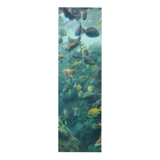 Underwater fish aquarium middle wall panel