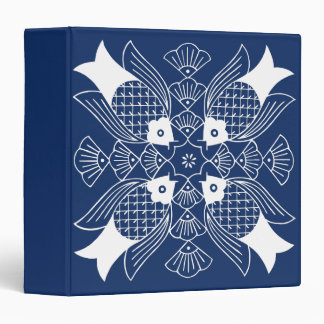 Underwater Fish Design with Blue Background 3 Ring Binder