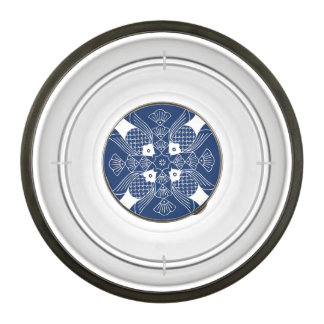 Underwater Fish Design with Blue Background Bowl
