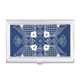 Underwater Fish Design with Blue Background Business Card Holder