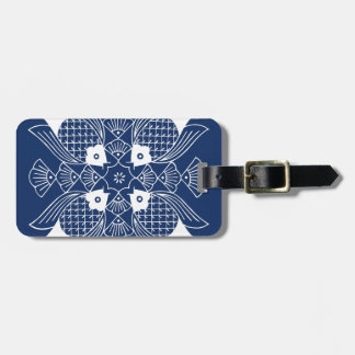 Underwater Fish Design with Blue Background Luggage Tag
