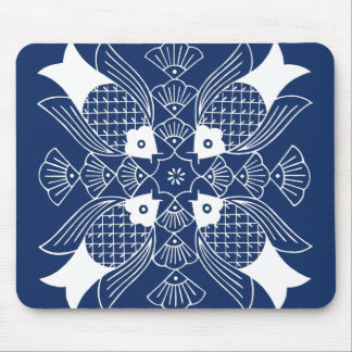Underwater Fish Design with Blue Background Mouse Pad