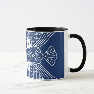Underwater Fish Design with Blue Background Mug