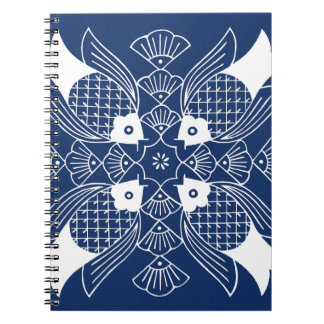 Underwater Fish Design with Blue Background Notebook