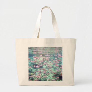 Beach Themed Underwater Fish Jumbo Tote Bag