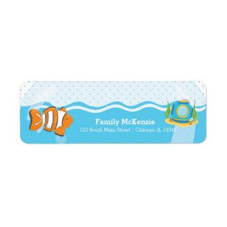 Underwater fish label