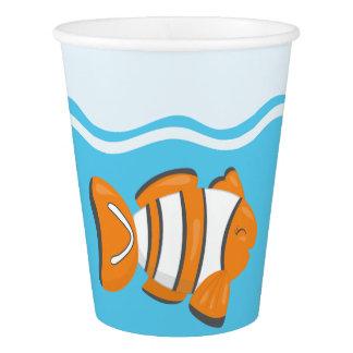 Underwater fish paper cup