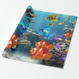 Underwater Fish Sealife Animal Wrapping Paper