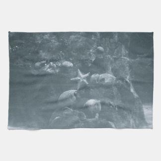 Underwater Grayscale Hand Towel