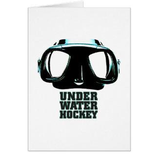 Underwater Hockey Folding Card