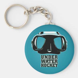 Underwater Hockey Keychain 2