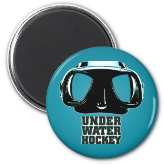 Underwater Hockey Magnet 2