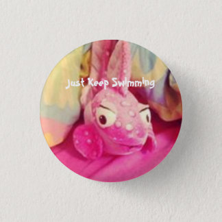 Underwater Just Keep Swimming Fish Button