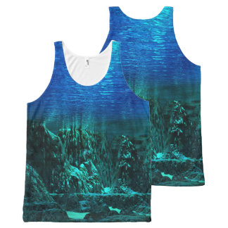 Underwater Landscape tank top All-Over Print Tank Top