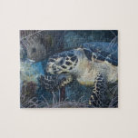 Underwater Life: A Hawksbill Sea Turtle Puzzle