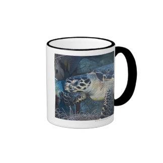 Underwater Life: A Hawksbill Sea Turtle Ringer Mug