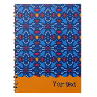 underwater life blue pattern notebook