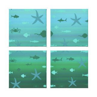 Underwater Life Stretched Canvas Prints