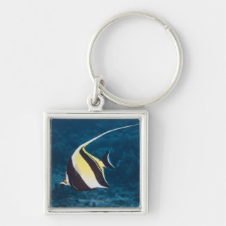 Underwater life;FISH: A Moorish Idol (Zanclus Keychain