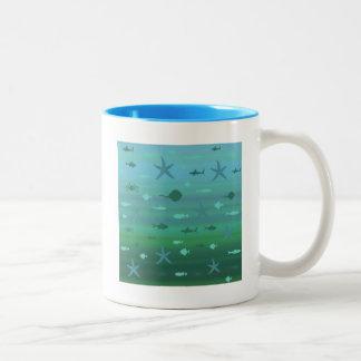 Underwater Life Two-Tone Coffee Mug