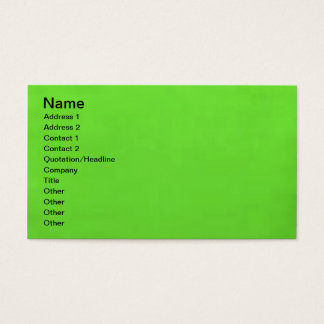 underwater lime green business card