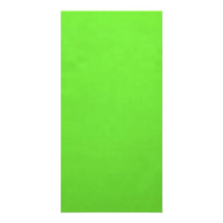underwater lime green picture card