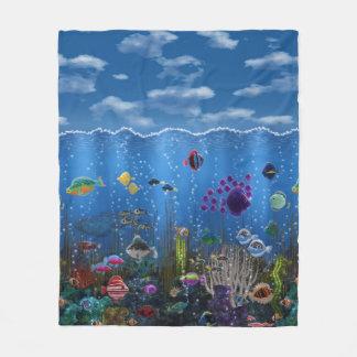 Underwater Love Fleece Blanket