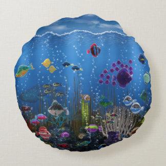 Underwater Love Round Pillow