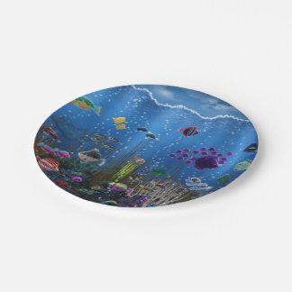 Underwater Love Paper Plate