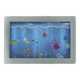 Underwater Love - Rectangular Belt Buckle