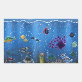 Underwater Love - Rectangular Sticker
