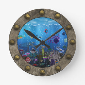 Underwater Love - Round Clock