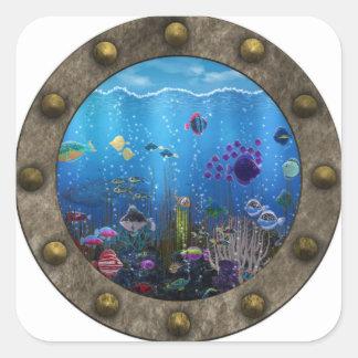 Underwater Love - Square Sticker