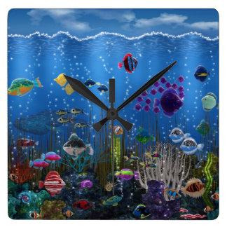 Underwater Love - Square Wall Clock