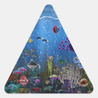 Underwater Love - Triangle Sticker