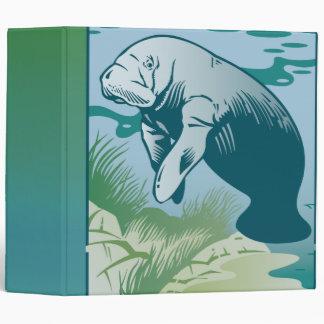 underwater mantee notebook binders