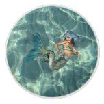 Underwater Mermaid Ceramic Knob