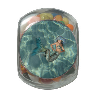Underwater Mermaid Glass Candy Jar
