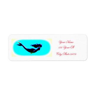 underwater mermaid label