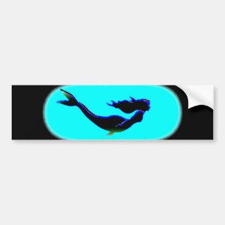 underwater mermaid swimming bumper sticker