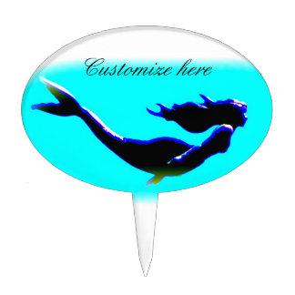 underwater mermaid swimming cake topper