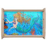 tray, mermaid, fantasy, underwater, tropical,