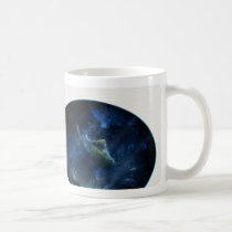 underwater, aquatic, aquatic life, fish, fishes, ocean, water, deep, blue, dark, coasts, mood, ray, light, bottom, ground, bubbles, houk, art, artwork, illustration, digital art, digital realism, surreal, surreal art, gifts, gift, mysterious, unique, bestseller, best selling, animal, Mug with custom graphic design