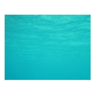 Underwater Ocean Blue Postcard