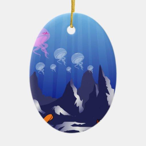 underwater ocean party christmas tree ornament