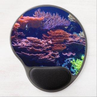 Underwater ocean scene, pretty colors, sea gel mouse pad