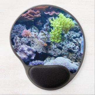 Underwater ocean scene, pretty, sea gel mouse pad