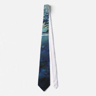 Underwater Ocean Wave Navy Green White Tie Juul