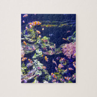 Underwater Orange Clown Fish Around Coral Jigsaw Puzzle