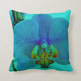 underwater orchid throw pillows